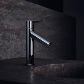AXOR Starck single lever basin mixer 100 with lever handle chrome, with non-closing waste valve