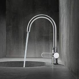 AXOR Uno single lever basin mixer 240, with pop-up waste set chrome