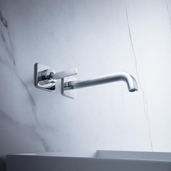 AXOR Citterio E concealed, wall-mounted single lever basin mixer with escutcheons chrome