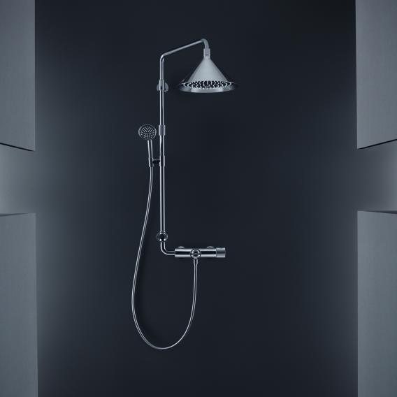 AXOR Showerpipe with thermostat and 2jet overhead shower designed by Front chrome
