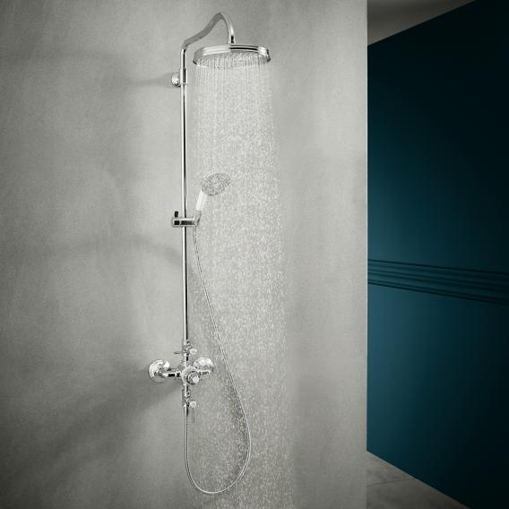 AXOR Montreux Showerpipe with thermostatic mixer and 1jet overhead shower chrome