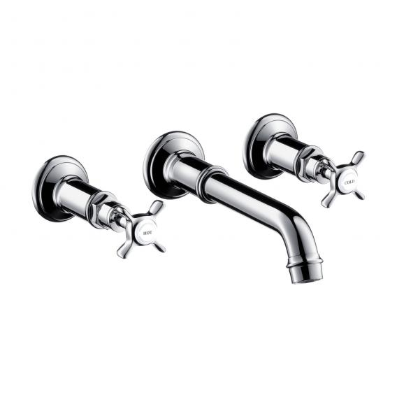 AXOR Montreux wall-mounted, three hole basin mixer chrome