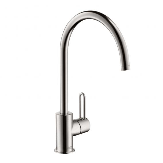 AXOR Uno² single lever kitchen mixer stainless steel look