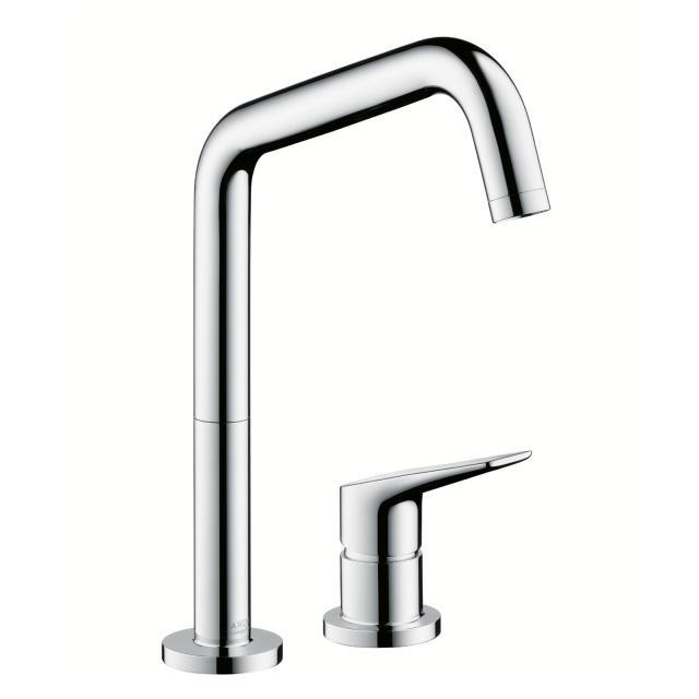 "AXOR Citterio M two hole, single lever kitchen mixer, 1/2"" chrome"