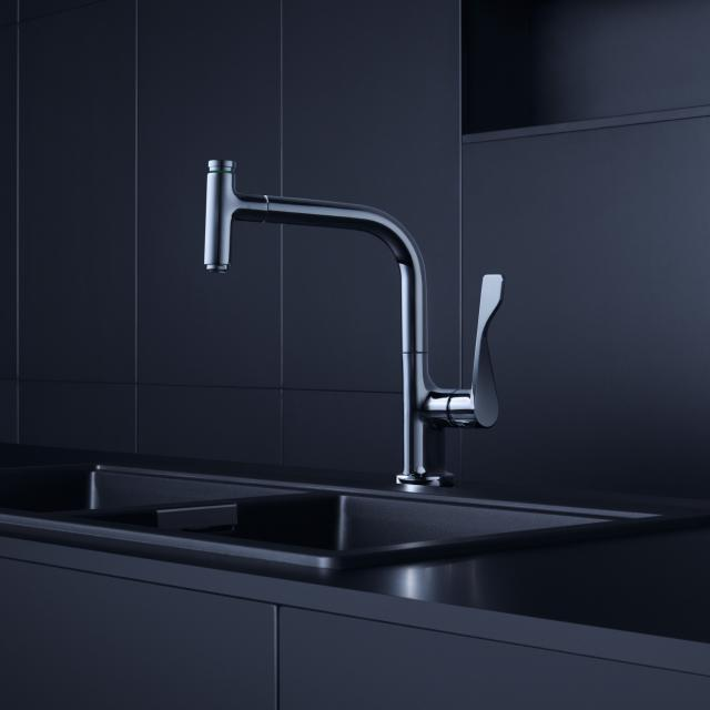 AXOR Citterio Select single lever kitchen fitting 230 with pull-out spray chrome