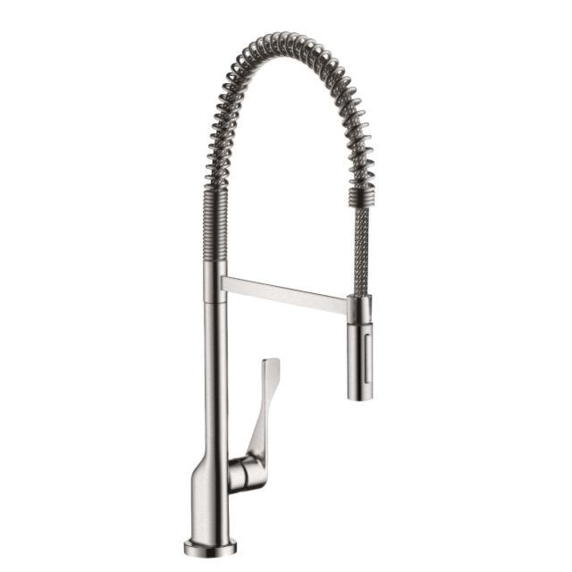 AXOR Citterio Semi-Pro single lever kitchen mixer stainless steel look