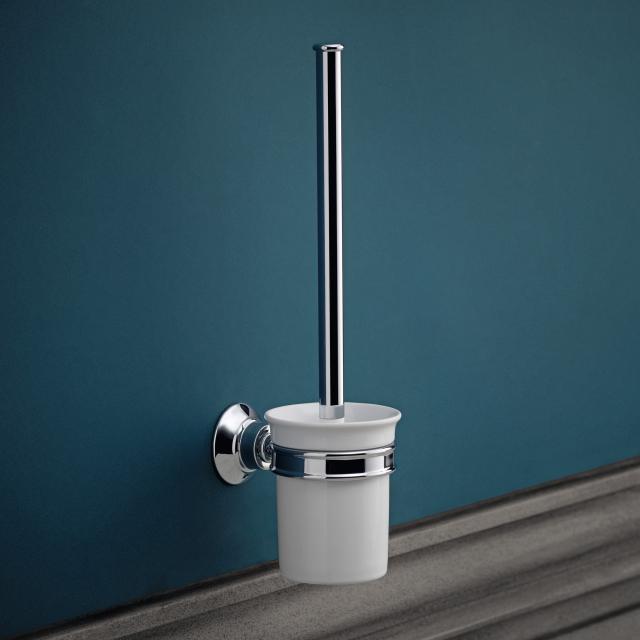 AXOR Montreux wall-mounted, toilet brush set chrome