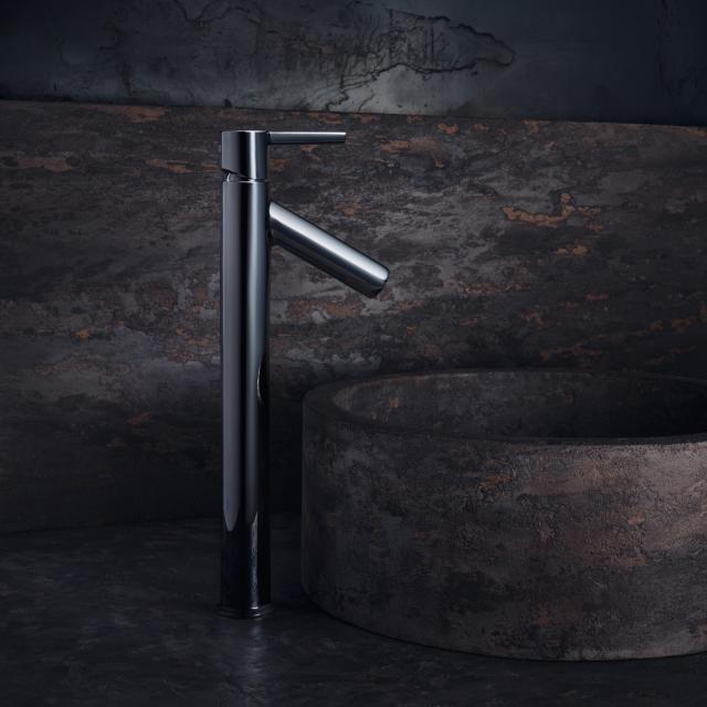 AXOR Starck single lever basin mixer 250 for washbowl, with lever handle chrome, with non-closing waste valve