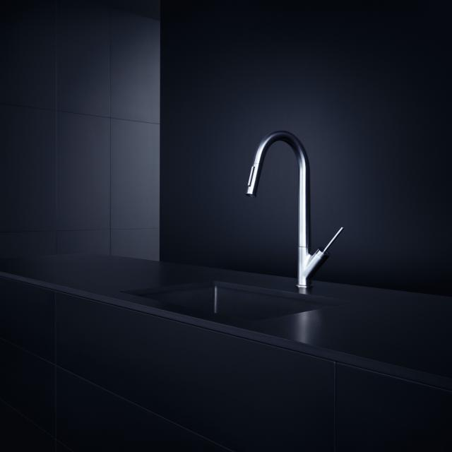 AXOR Starck single lever kitchen fitting 270 with pull-out spray chrome
