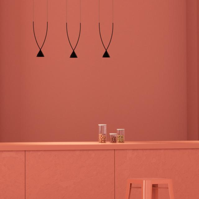 Axolight Jewel LED pendant light, 3 heads, elongated