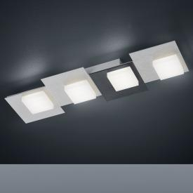 BANKAMP CUBE LED ceiling light / wall light 4 heads with dimmer, rectangular