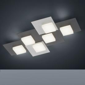 BANKAMP CUBE LED ceiling light / wall light 6 heads with dimmer, rectangular
