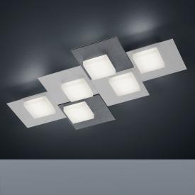 BANKAMP CUBE LED ceiling light / wall light 6 heads with dimmer, rectangular