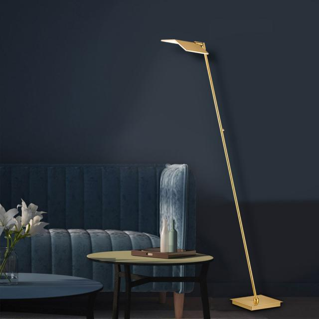 BANKAMP BOOK LED floor lamp with dimmer and CCT, single-headed