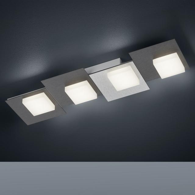 BANKAMP CUBE LED ceiling light / wall light 4 heads with dimmer, rectangular