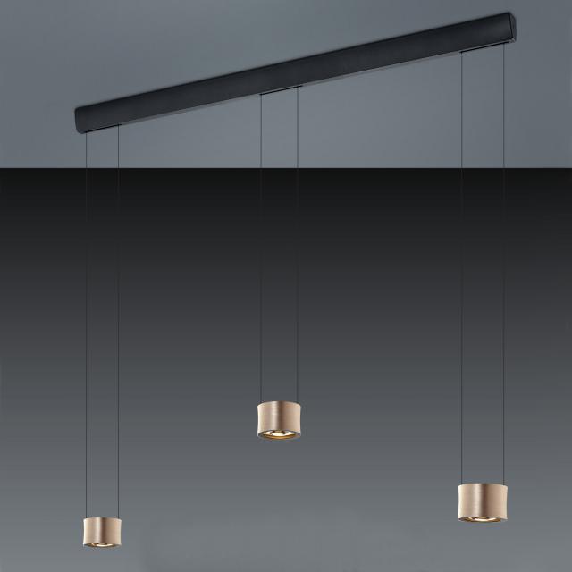 BANKAMP IMPULSE LED pendant light 3 heads