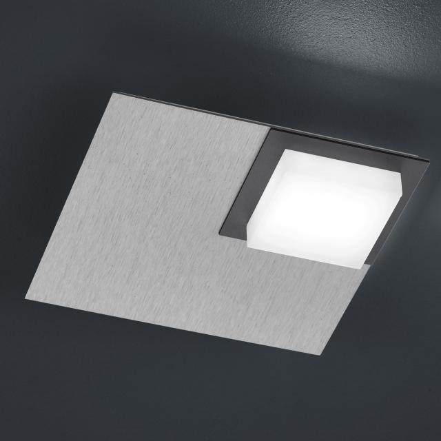 BANKAMP QUADRO LED ceiling light / wall light 1 head with dimmer