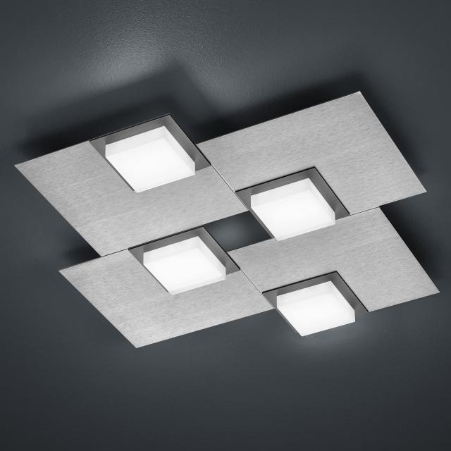 BANKAMP QUADRO LED ceiling light / wall light 4 heads with dimmer