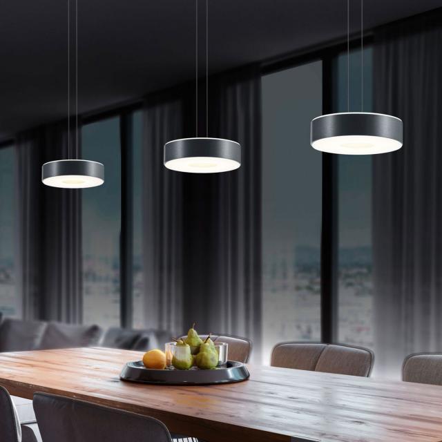 BANKAMP TONDO II LED pendant light, 3 heads
