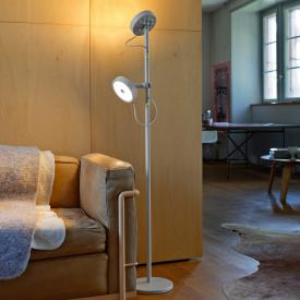 belux u-turn LED floor lamp with reading arm and dimmer