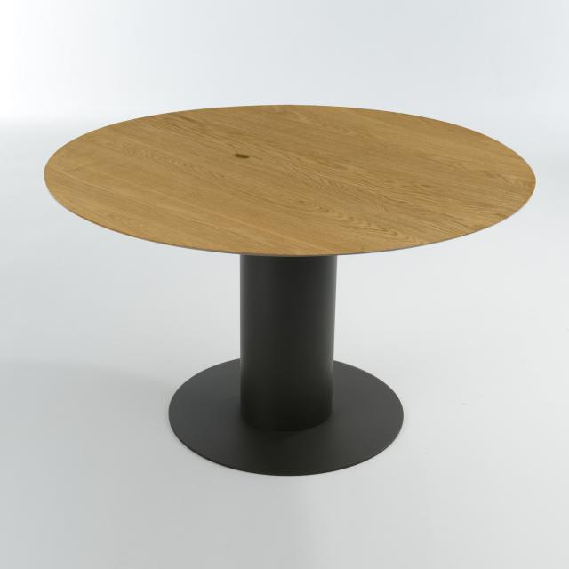 bert plantagie Oval dining table, solid wood, round