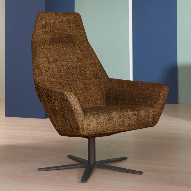 bert plantagie Zyba high armchair with swivel base, fabric