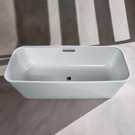 Bette Art freestanding bath white bath, chrome waste set
