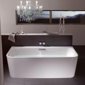 Bette Art I compact bath with panelling white bath, with BetteGlaze Plus, chrome waste set, with water inlet