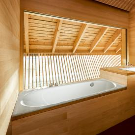 Bette Comodo rectangular bath, rear overflow on the side white