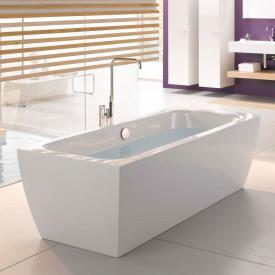 Bette Cubo Silhouette freestanding bath white, chrome waste set