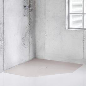 Bette Floor Caro pentagonal shower tray dust, with BetteAnti-slip Pro