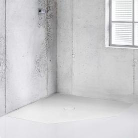 Bette Floor Caro pentagonal shower tray white, with BetteAnti-slip Pro