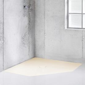 Bette Floor Caro pentagonal shower tray flax