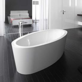 Bette Home Oval Silhouette freestanding bath white bath, with BetteGlaze Plus, chrome waste set