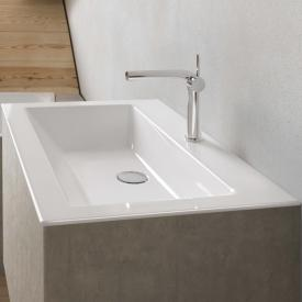 Bette Loft drop-in washbasin white, with BetteGlaze Plus, with 1 tap hole