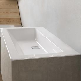 Bette Loft drop-in washbasin white, without tap hole