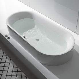 Bette Lux Oval Highline oval semi-recessed bath white