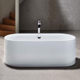 Bette Lux Oval Silhouette freestanding bath white bath, chrome waste set