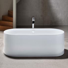 Bette Lux Oval Silhouette freestanding bath white bath, with BetteGlaze Plus, white waste set, with water inlet