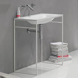 Bette Lux Shape washbasin with frame white/matt white, with BetteGlaze Plus