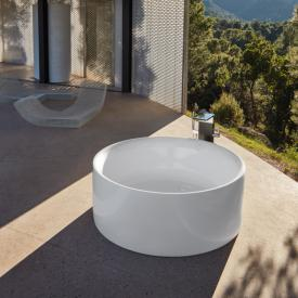 Bette Pond Silhouette freestanding round bath white, with BetteGlaze Plus