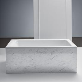Bette Select rectangular bath with front overflow on the side white, with BetteGlaze Plus