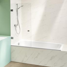 Bette Space corner bath, installation left white, with BetteGlaze Plus