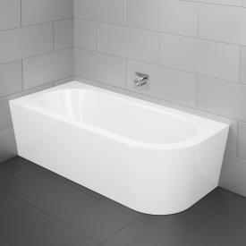 Bette Starlet Silhouette compact bath with panelling white bath, with BetteGlaze Plus, chrome waste set