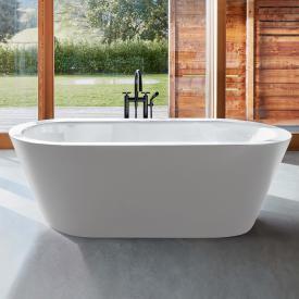 Bette Starlet Oval Silhouette freestanding bath white bath, with BetteGlaze Plus, chrome waste set
