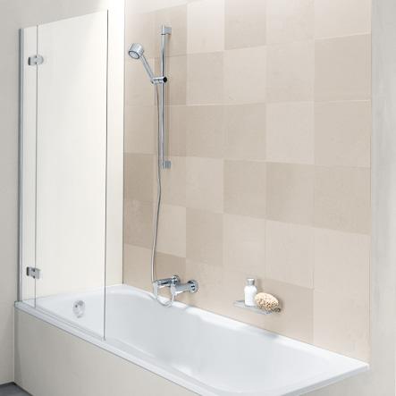 Bette Ocean II shower partition BetteEchtglas Plus / white