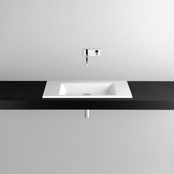 Bette Aqua drop-in washbasin white