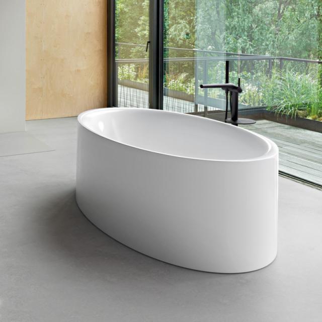 Bette Eve Oval Silhouette freestanding bath white, waste set chrome