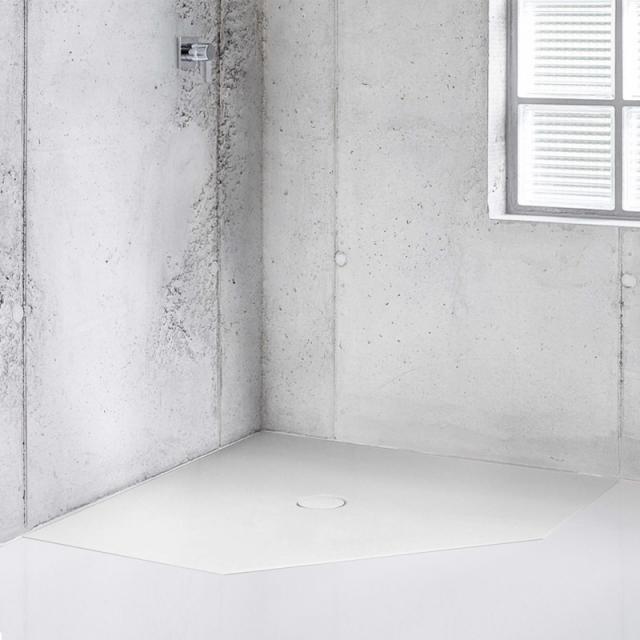 Bette Floor Caro pentagonal shower tray white