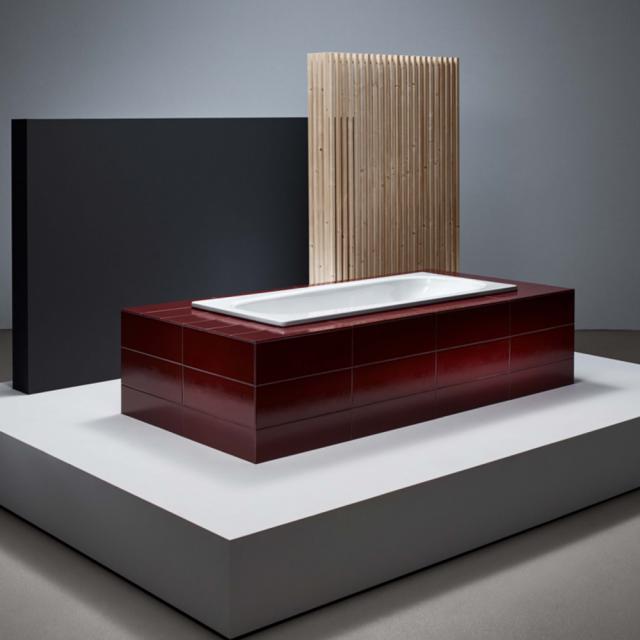 Bette Form rectangular bath, built-in white, with BetteAnti-slip, with BetteGlaze Plus